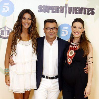 Lara Álvarez, Jorge Javier Vázquez y Raquel Sánchez Silva presentando la gala final de 'Supervivientes 2015'
