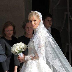 Nicky Hilton radiante en el día de su boda con James Rothschild