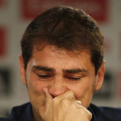 Iker Casillas se emociona en su despedida del Real Madrid