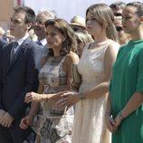 La Princesa Estefanía de Mónaco con sus hijos Louis Ducret, Camille Gottlieb y Pauline Ducret