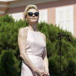 La Princesa Charlene de Mónaco en el 10 Aniversario de la ascensión al trono de Alberto II