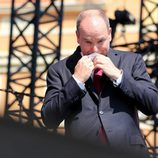 Alberto de Mónaco emocionado en el 10 Aniversario de Ascenso al trono
