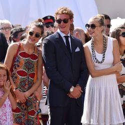 Pierre Casiraghi, Beatrice Borromeo y Carlota Casiraghi en el 10 Aniversario de Ascenso al trono