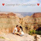 Pilar Rubio y Sergio Ramos besándose en el Gran Cañón del Colorado