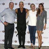 Alberto y Charlene de Mónaco con Robbie Williams y Ayda Field