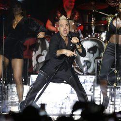 Robbie Williams en el concierto por el décimo aniversario del reinado de Alberto de Mónaco