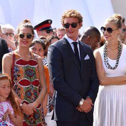 Carlota Casiraghi, Pierre Casiraghi y Beatrice Borromeo en el décimo aniversario de la entronización de Alberto de Mónaco