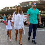 David Bustamante y Paula Echevarría con su hija Daniella al llegar a Ibiza