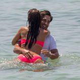 Paula Echevarría y David Bustamante, muy apasionados en Ibiza