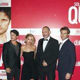 Alejo Sauras, Ana Fernández, Alfonso Albacete y Rodrigo Guirao en el estreno de 'Solo Química'