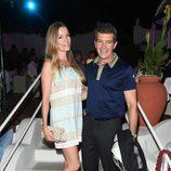 Nicole Kimpel y Antonio Banderas en la cena inaugural del Festival de Ischia 2015