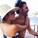 Eva Longoria con su chico Jose Antonio Baston en Capri