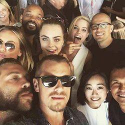 Protagonistas 'Escuadrón Suicida' selfie