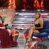 Chabelita Pantoja hablando con Raquel Sánchez Silva durante el debate final de 'Supevivientes 2015'