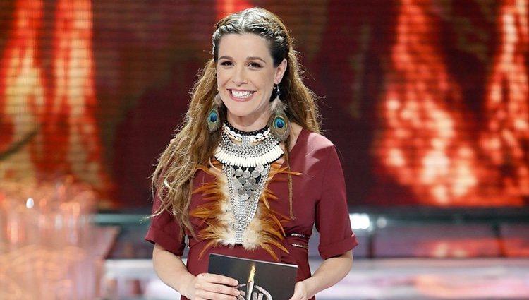 Raquel Sánchez Silva en el debate final de 'Supervivientes 2015'