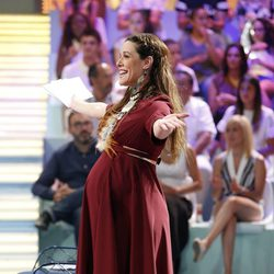 Raquel Sánchez Silva luciendo embarazo en el debate final de 'Supervivientes 2015'