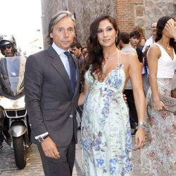 Israel Bayón y Cristina Sainz en la boda de Alba Carrillo y Feliciano López