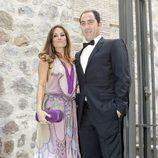 Albert Costa y Cristina Ventura en la boda de Alba Carrillo y Feliciano López