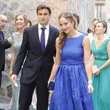 David Ferrer y Marta Tornel en la boda de Alba Carrillo y Feliciano López
