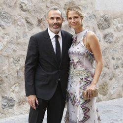 Álex Corretja y Martina Klein en la boda de Alba Carrillo y Feliciano López