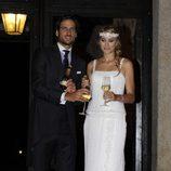 Alba Carrillo y Feliciano López brindan en su boda