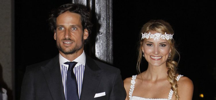 Alba Carrillo y Feliciano López en su boda