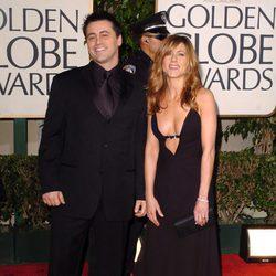 Matt LeBlanc y Jennifer Aniston en los Globos de Oro 2004