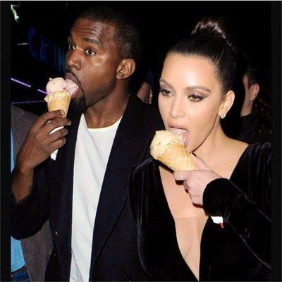 Kim Kardashian celebra el día nacional del helado