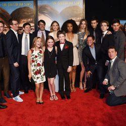 El elenco de 'Ciudades de Papel' en el estreno de la película de Nueva York