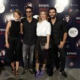 Ana Polvorosa, Hugo Silva, Blanca Suárez y Antonio Velázquez en el concierto de Raphael en Madrid