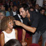 Hugo Silva y Mary Ruiz, muy felices en el concierto de Raphael en Madrid