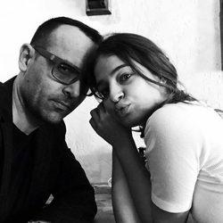 Risto Mejide y Laura Escanes en blanco y negro