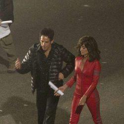 Penélope Cruz y Ben Stiller en el set de rodaje de 'Zoolander 2' en Roma