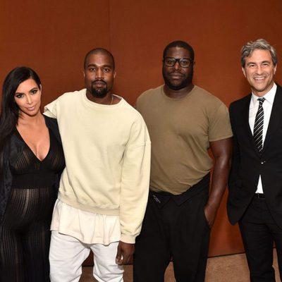 Kim Kardashian y Kanye West en el evento de LACMA