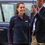 Kate Middleton en una competición de vela en Portsmouth