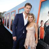 Elsa Pataky y Chris Hemsworth en el estreno de 'Vacation' en Los Angeles