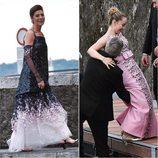 La Princesa Carolina de Mónaco y la princesa Alexandra en la boda de Pierre Casiraghi