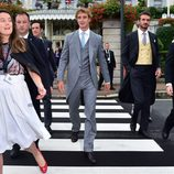 Pierre Casiraghi saliendo del hotel para ir a su ceremonia religiosa con Beatrice Borromeo