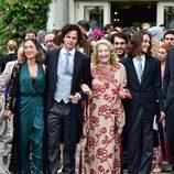 Marta Marzotto, abuela de Beatrice Borromeo, junto a algunos de sus nietos