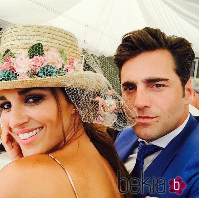 Paula Echevarría y David Bustamante en la boda del hermano del cantante