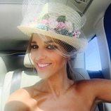 Paula Echevarría luce un bonito tocado en la boda de Igor Bustamante