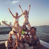 Jennifer Lawrence disfrutando de unos días de descanso con amigas