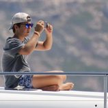 Froilán hace fotos con su móvil a las regatas de la Copa del Rey de Vela 2015