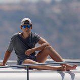 Froilán sigue las regatas de la Copa del Rey de Vela 2015