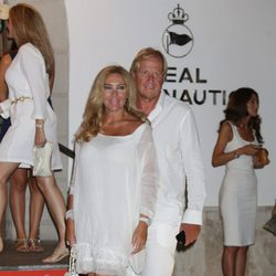 Norma Duval y Matthias Kühn en la cena de armadores de Mallorca