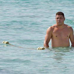 Ronaldo con el torso desnudo en Formentera