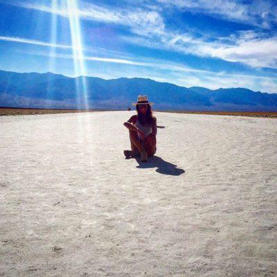 Lara Álvarez en el Valle de la Muerte