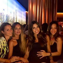 Carolina Martín, Romarey Ventura, Melissa Jiménez y Anna Ortiz, juntas de fiesta