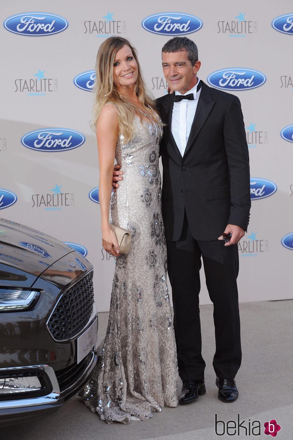 Antonio Banderas y Nicole Kimpel en la Gala Starlite 2015