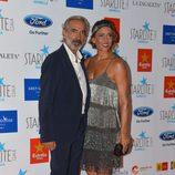 Imanol Arias e Irene Meritxell en la Gala Starlite 2015